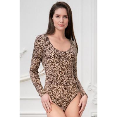 Леопардовое боди с длинным рукавом Body Dream