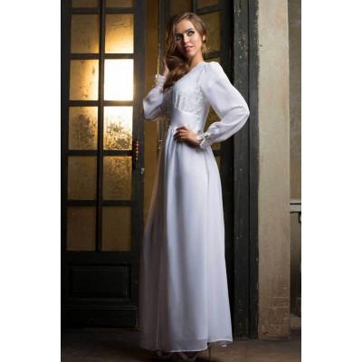 Длинный пеньюар Lady in white