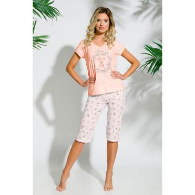 Нежная пижама Donata с цветочным рисунком на бриджах