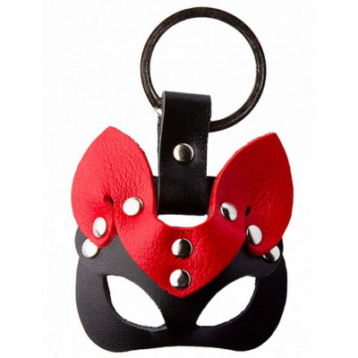 Черно-красный сувенир-брелок «Кошка»
